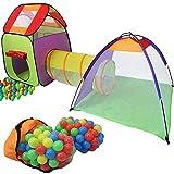 KIDUKU Kinderspielzelt Bällebad Pop Up Spielzelt Iglu Spielhaus + Krabbeltunnel +...