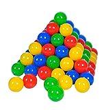 Knorrtoys 56789 - 100 Bälle in knalligem Blau, Rot, Gelb und Grün ohne gefährliche...